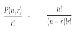 n tane nesneden r tane nesneyi seçmenin formülü
